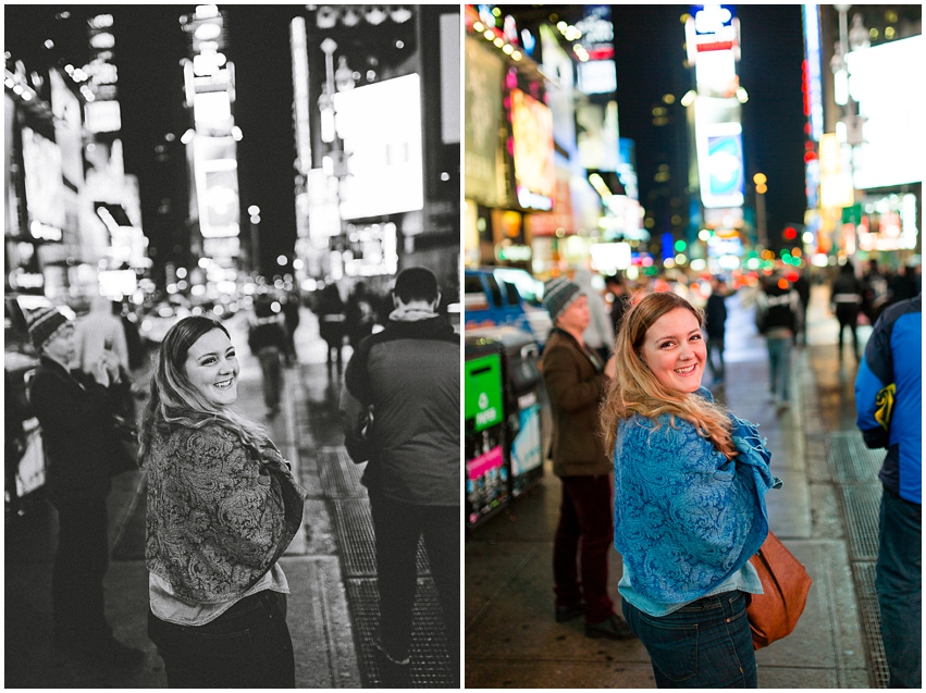 New York City Christmas Tradition Virginia DC Wedding Photographer Times Square