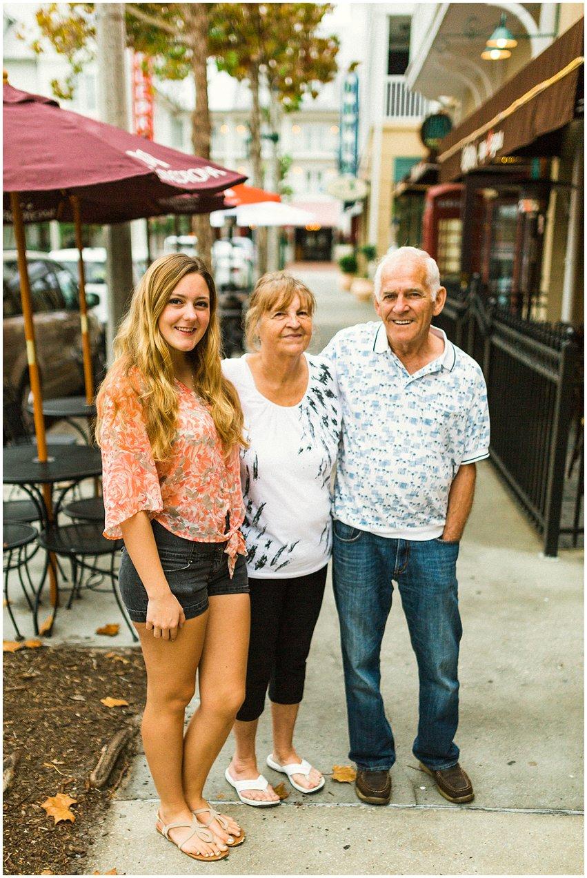 Orlando Florida Vacation Lifestyle Portrait Photographer Disney World Celebration Grandparents