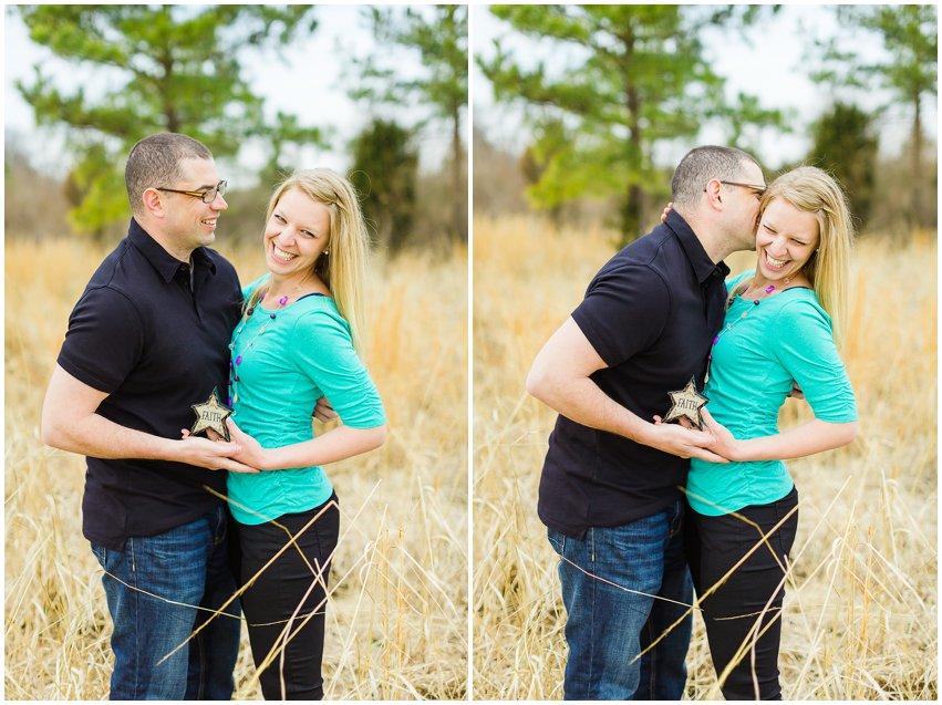 Adoption Announcement Virginia Photographer Manassas Battlefield Family Couple Portraits