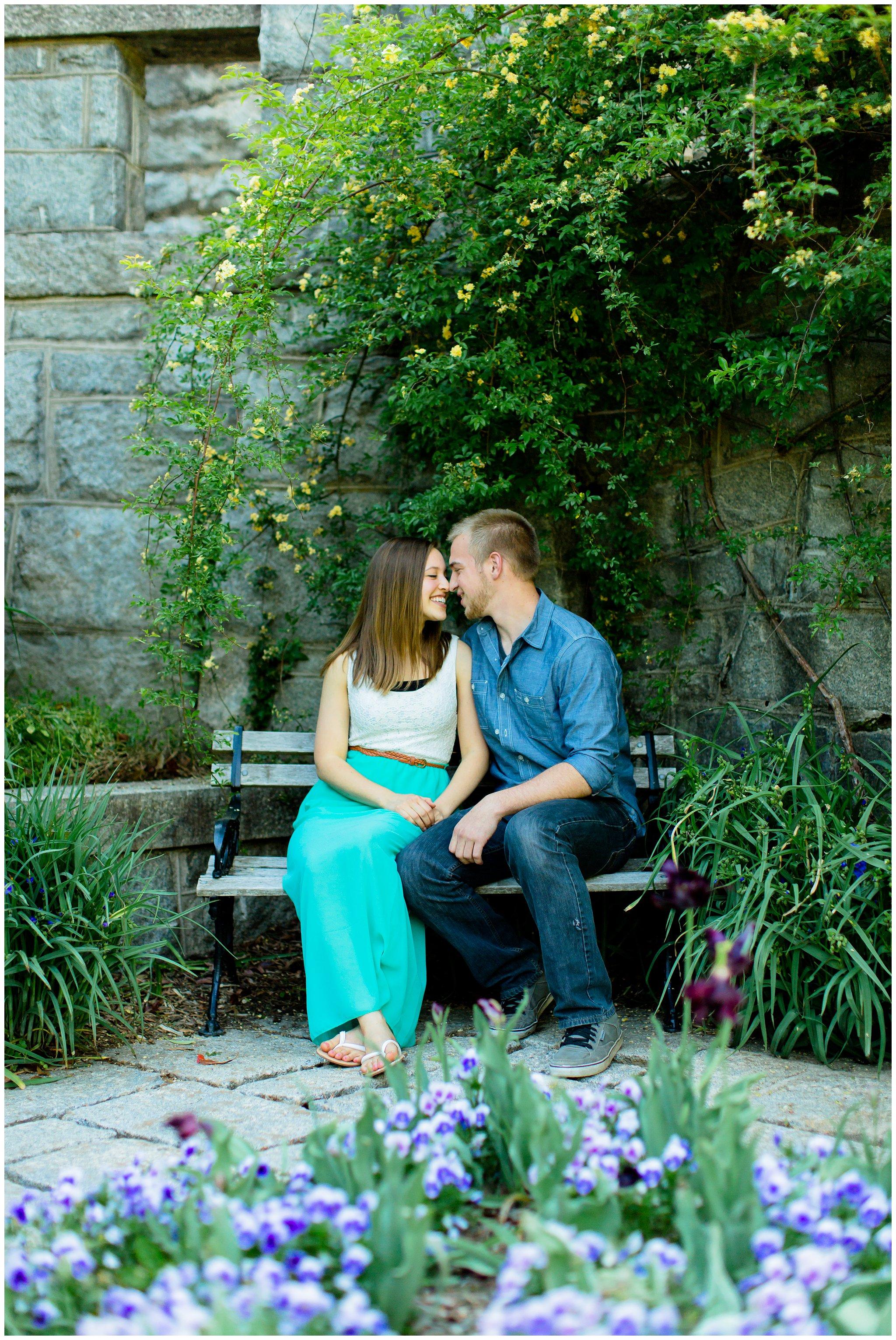 Maymont Richmond Engagement Session Engaged Couple Garden Park Gazebo Fairytale Love