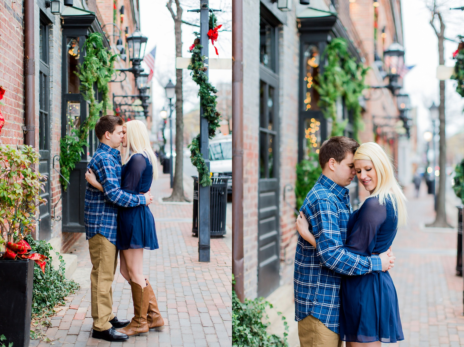 Old Town Alexandria Winter Engagement Photography