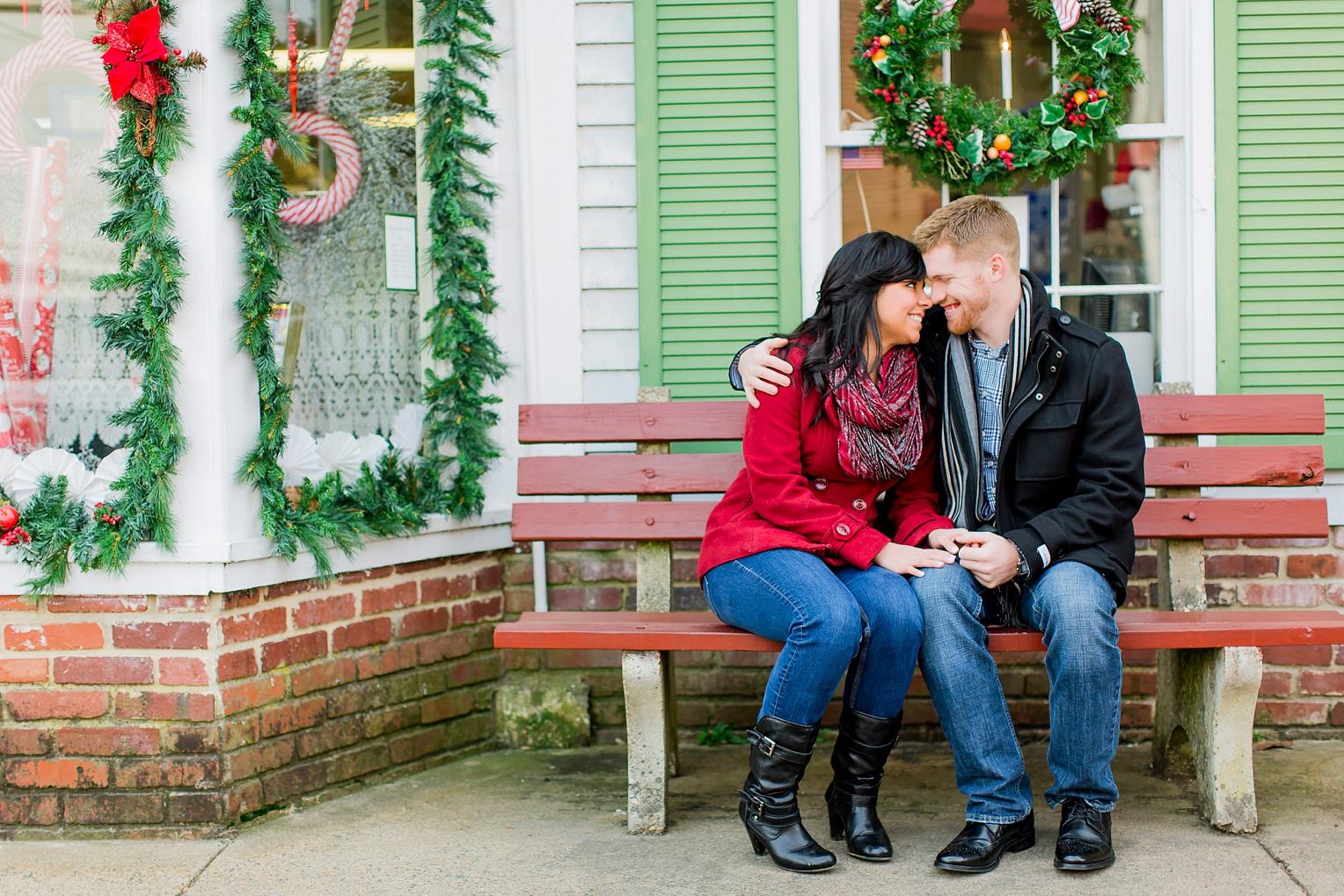 Historic Occoquan Virginia Winter Engagement Session