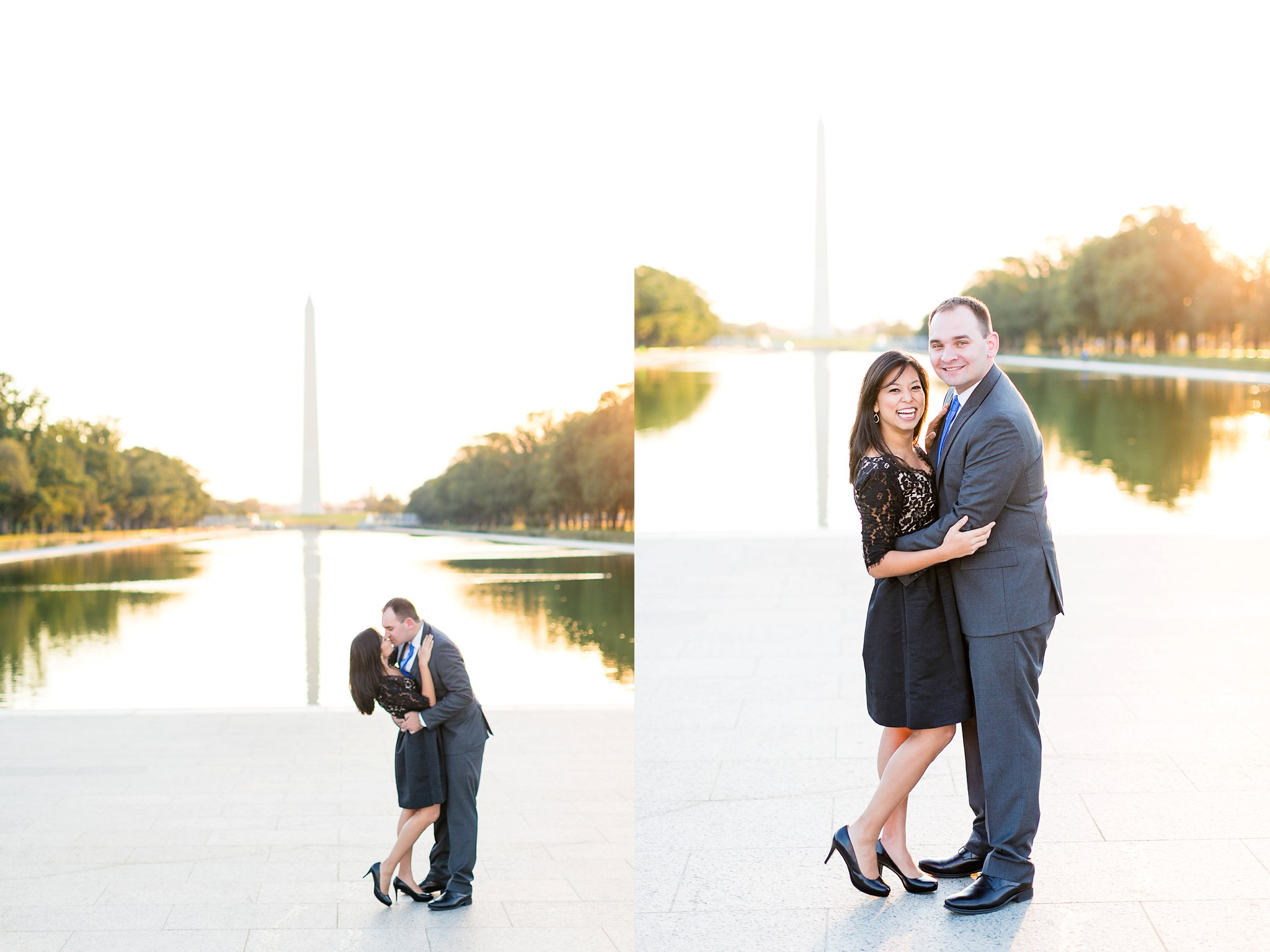 Washington DC Anniversary Photographer Lincoln Memorial Sunrise Shoot Angela & Dan-18.jpg