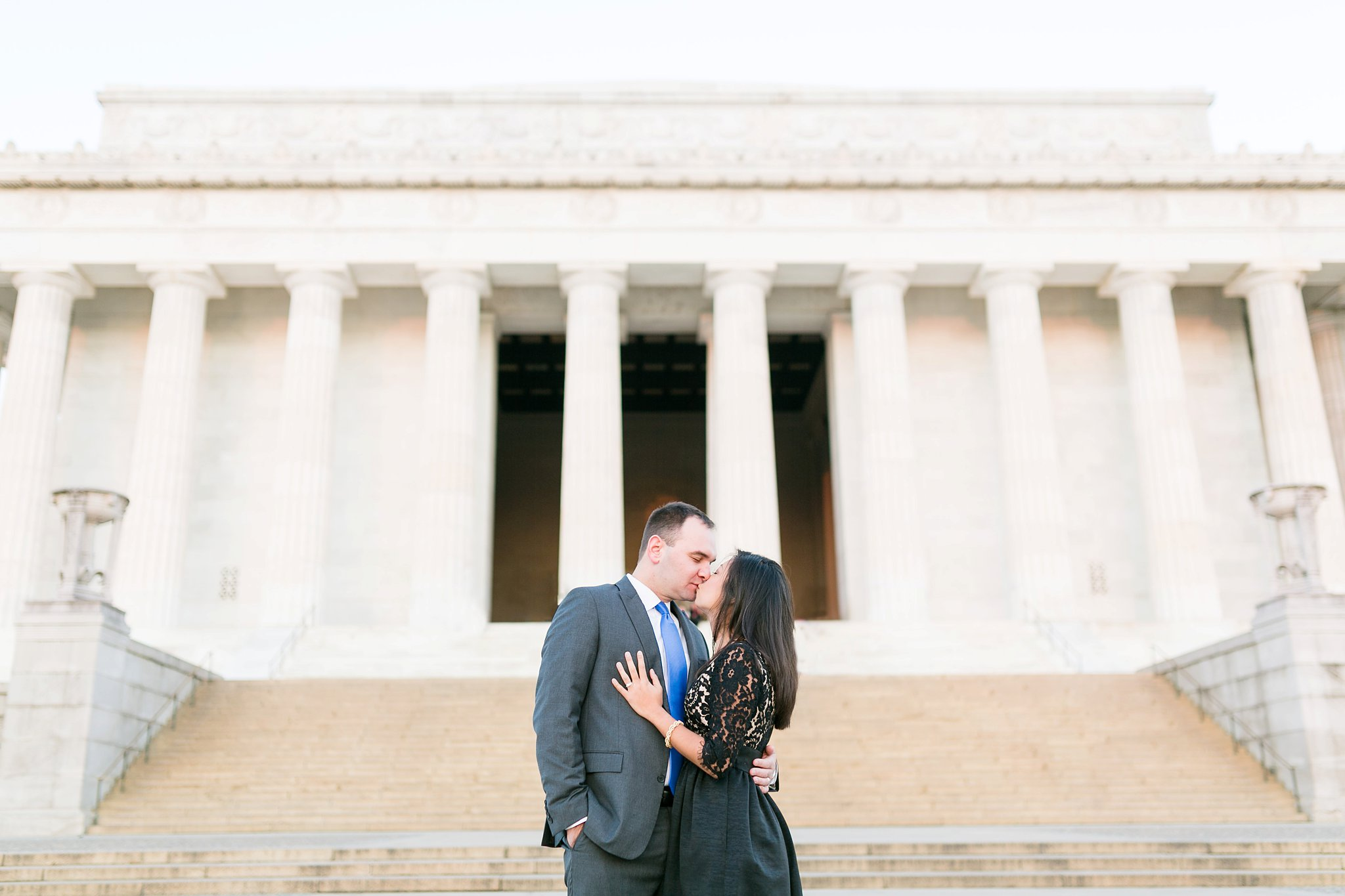 Washington DC Anniversary Photographer Lincoln Memorial Sunrise Shoot Angela & Dan-4.jpg