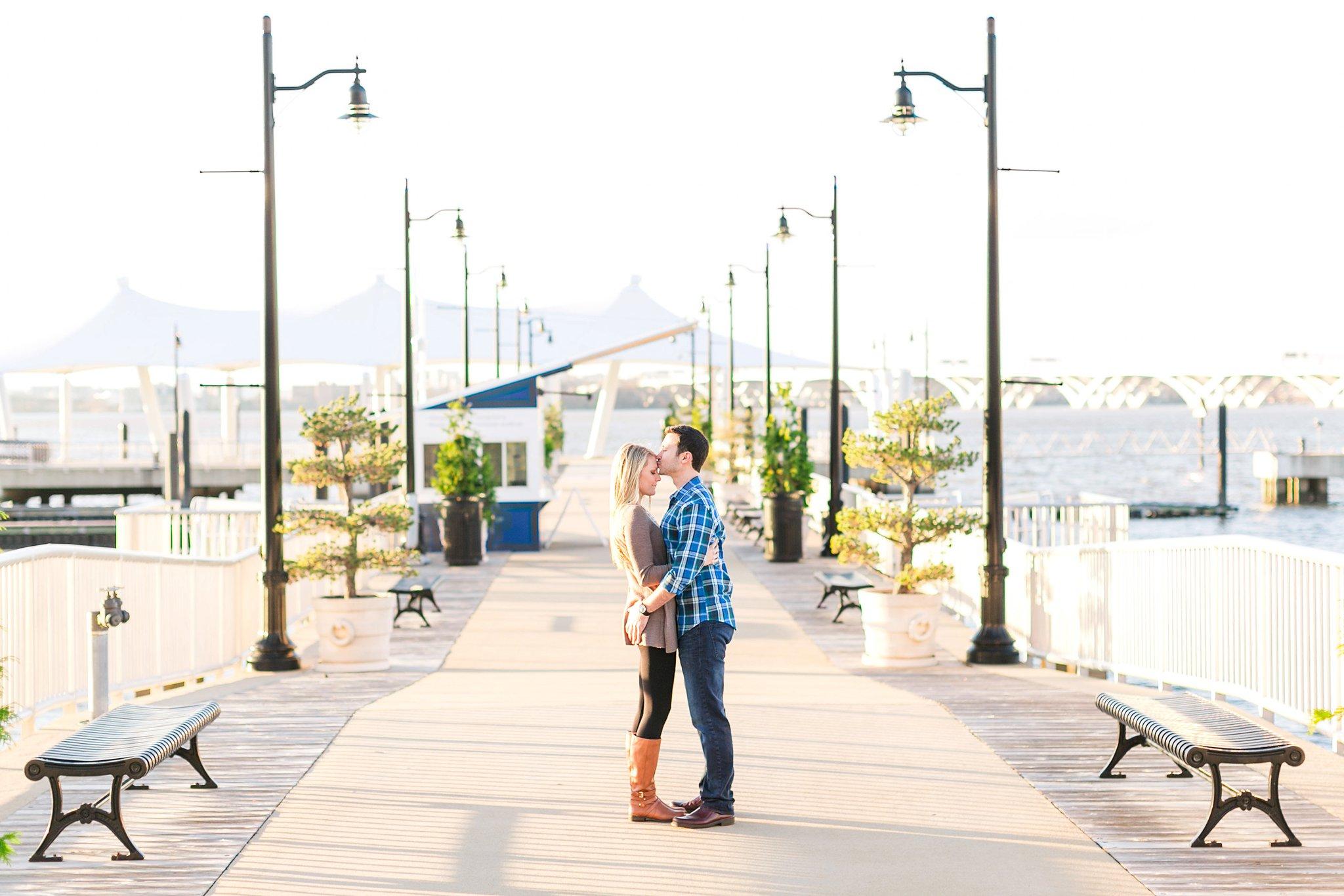 National Harbor Engagement Photos Gaylord Christmas Engagement Session Megan Kelsey Photography Heather & Matt