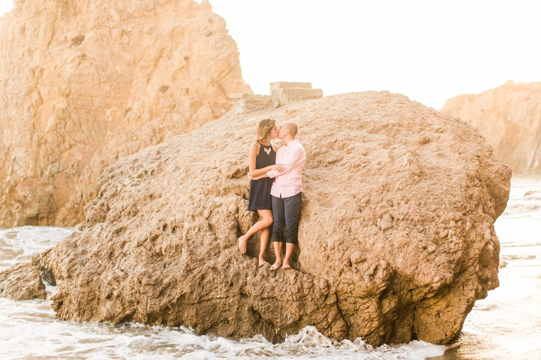 Malibu Engagement Photos | El Matador Beach | Maria & David