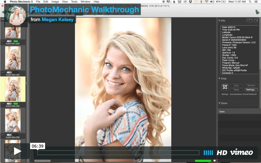PhotoMechanic Walkthrough (Video) | Photog Friday | Culling Your RAW Images