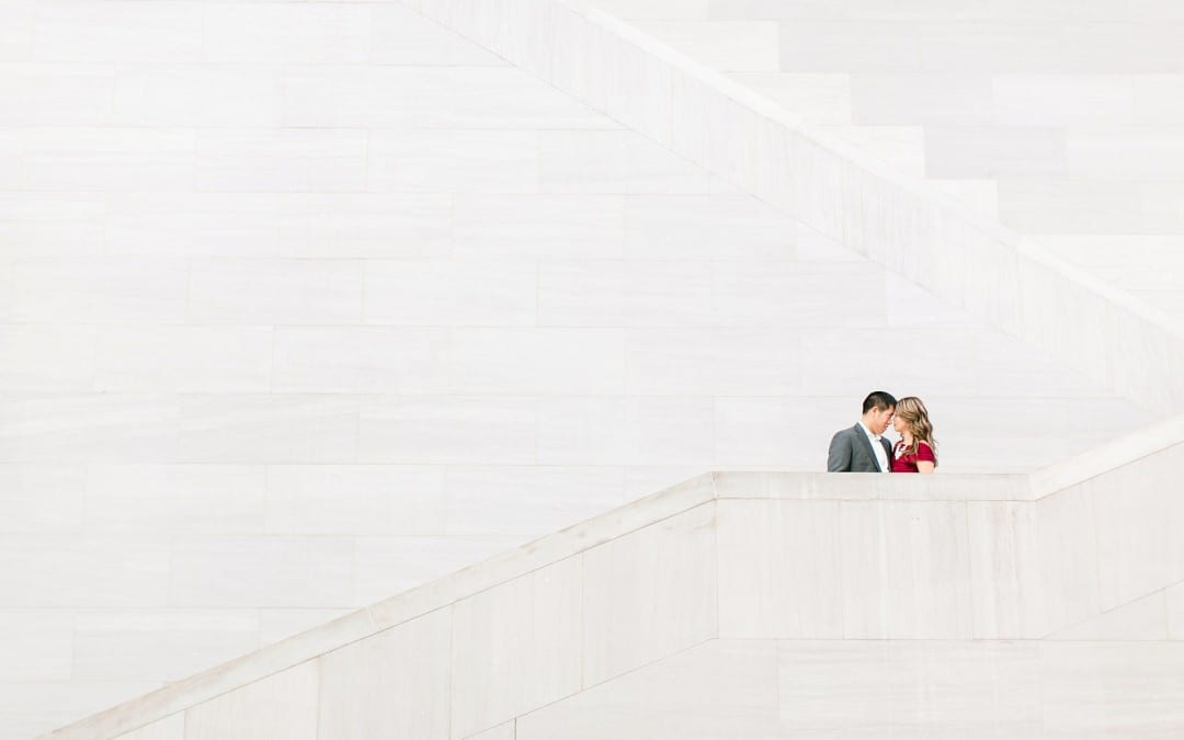 National Gallery of Art Engagement Photos | Sy-yu & Anthony | Washington DC