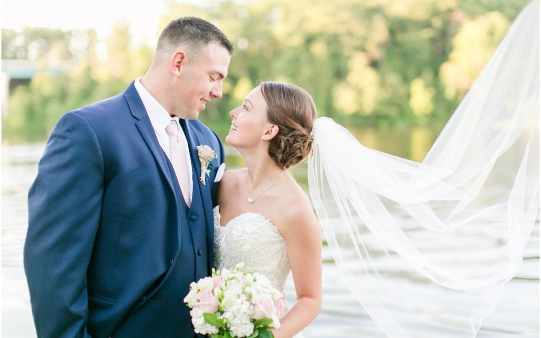 Harbour View Wedding | Britney & Greg | Navy & Blush Wedding in Occoquan, Virginia