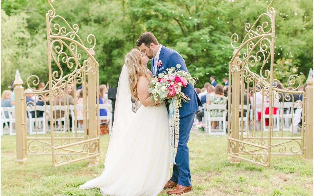 Whimsical Glam DIY Maryland Backyard Wedding | Kelly & Zach