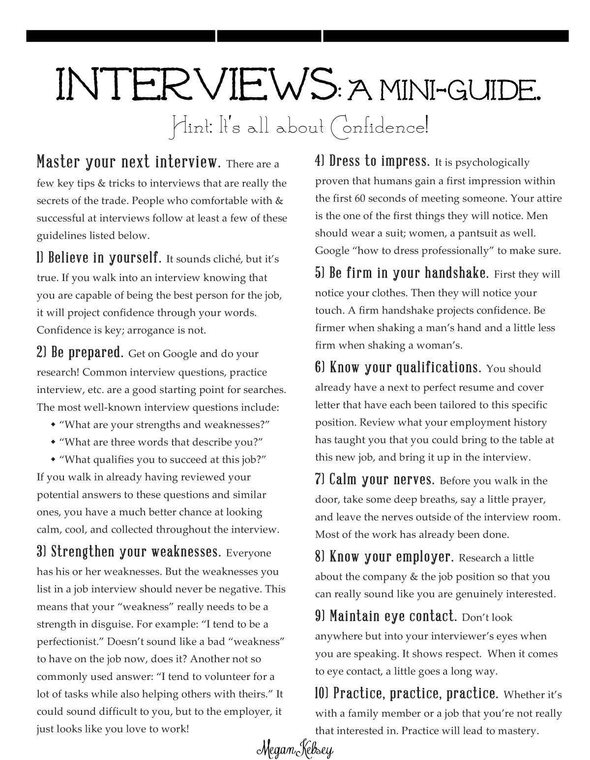 Interview-Mini-Guide