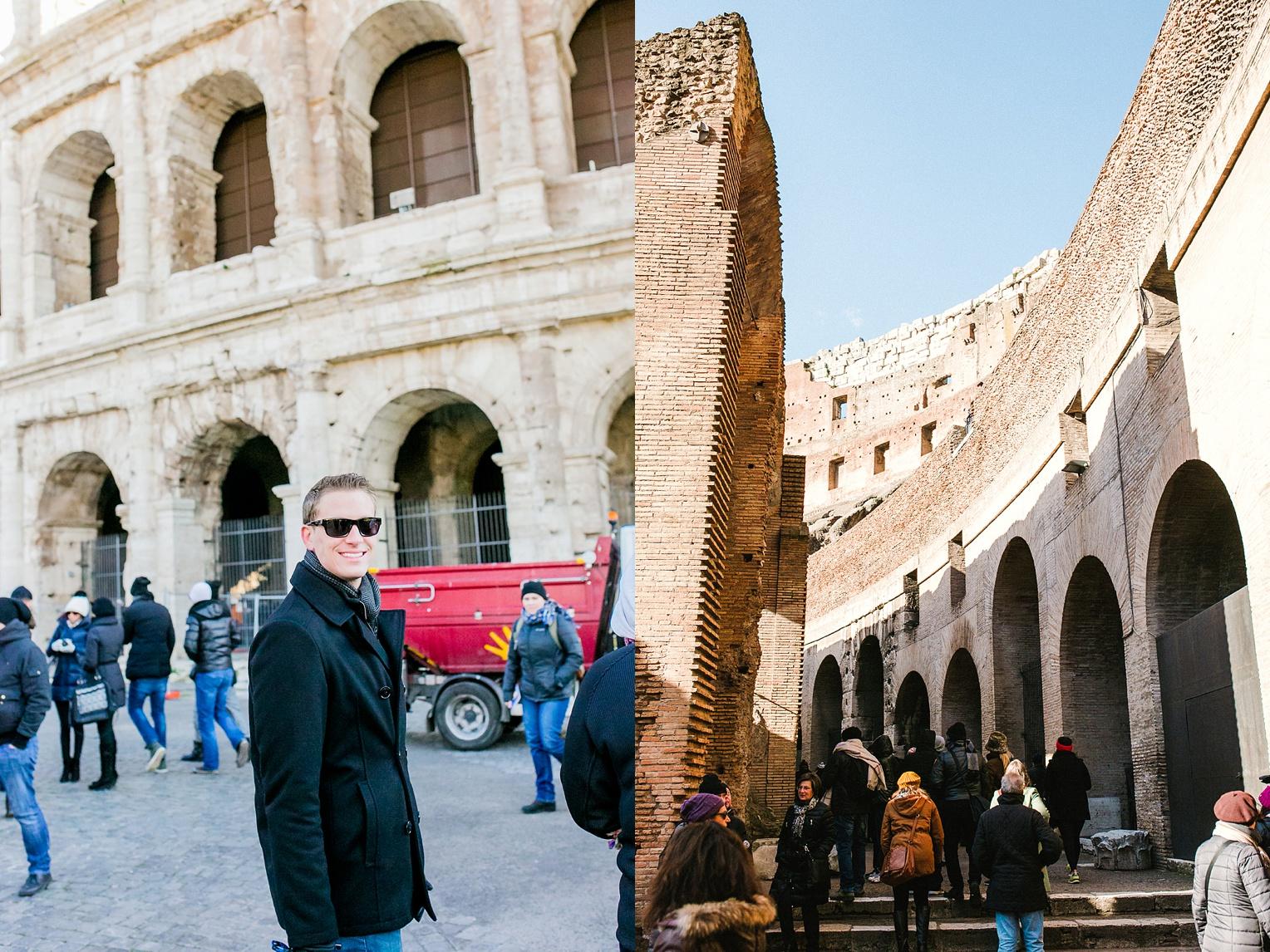 Christmas in Europe Roman Forum Colosseum Palatino