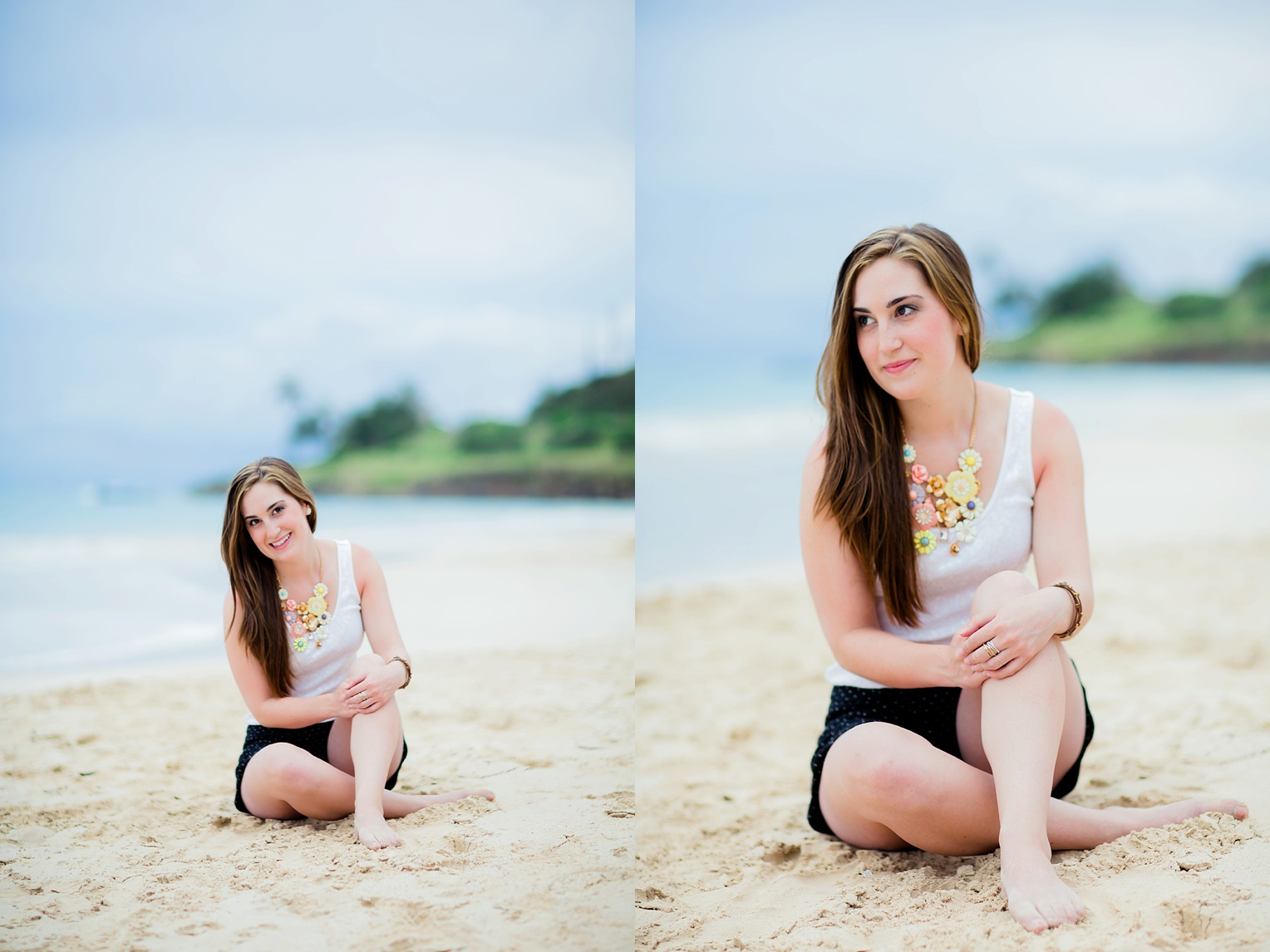 Lanikai Beach Sunset Portraits Oahu Portrait Photographer
