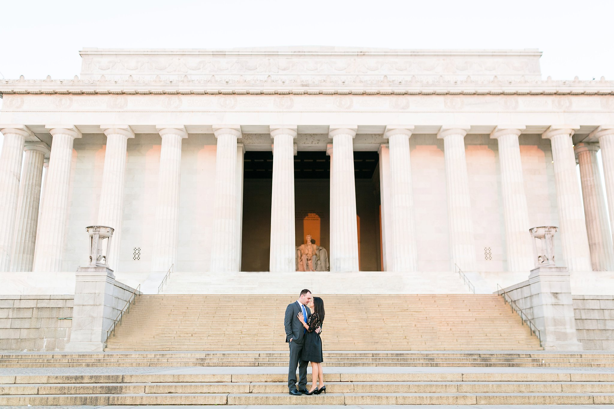Washington DC Anniversary Photos | Dan & Angela | Lincoln Memorial Sunrise Shoot