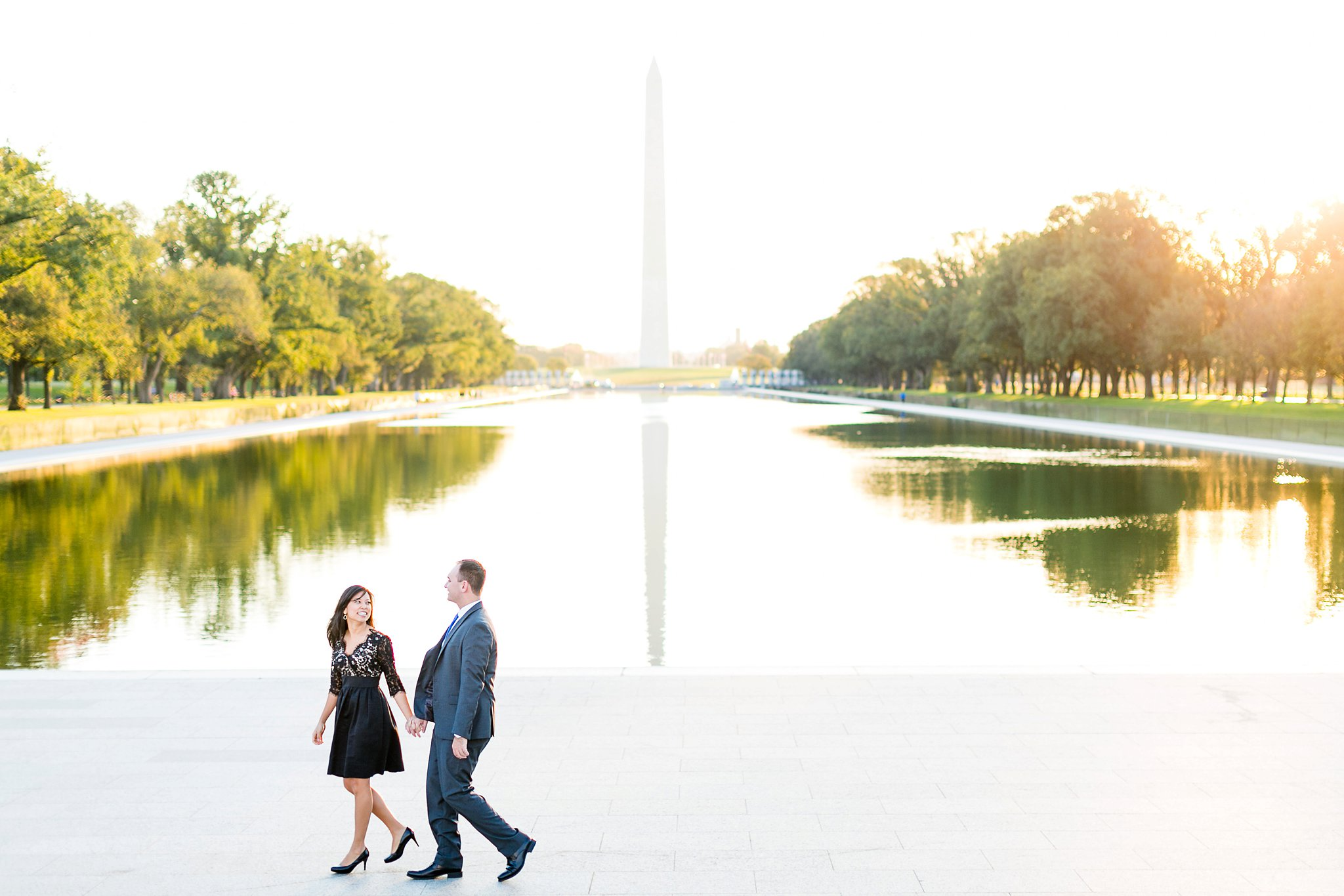 Washington DC Anniversary Photographer Lincoln Memorial Sunrise Shoot Angela & Dan-26.jpg