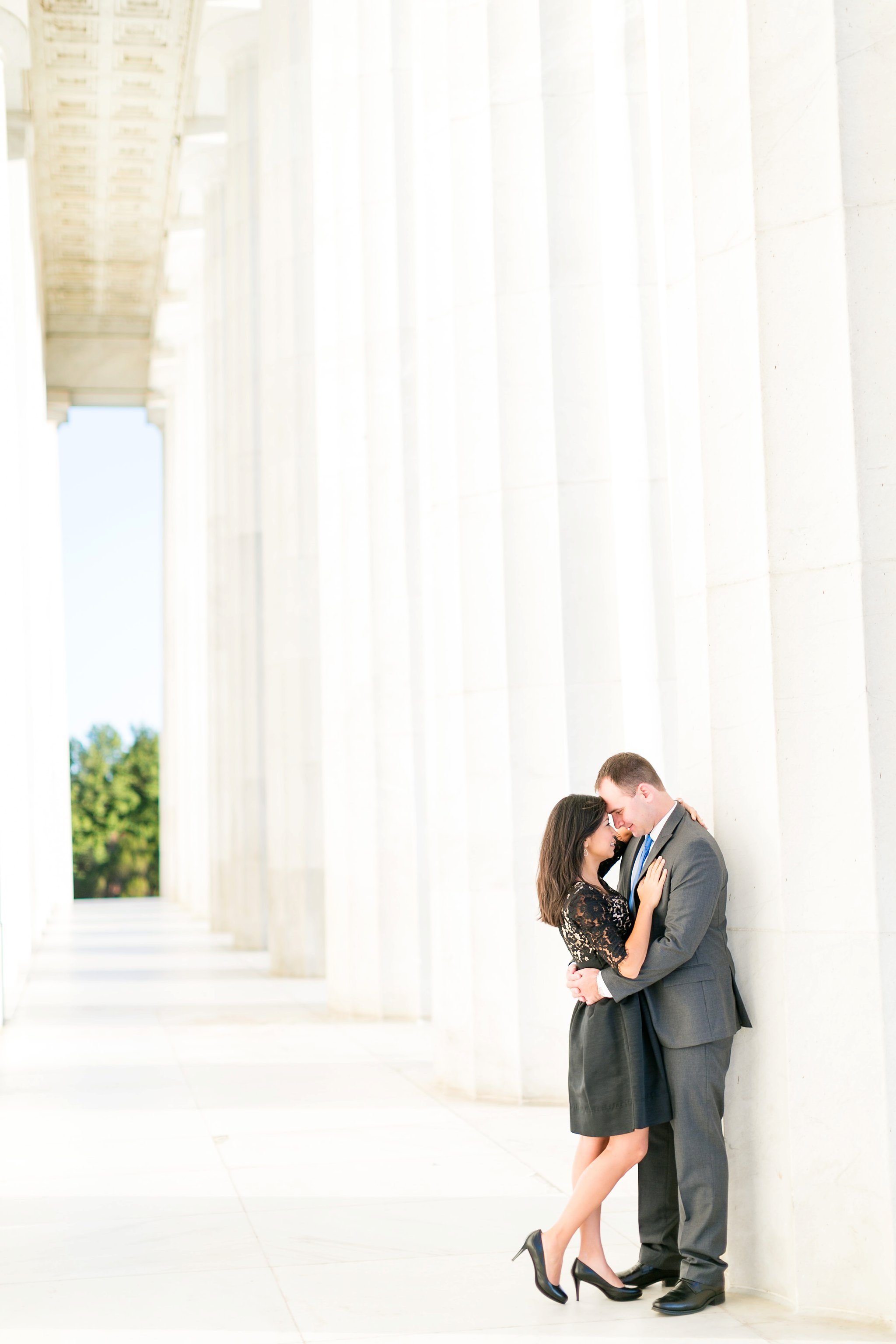 Washington DC Anniversary Photographer Lincoln Memorial Sunrise Shoot Angela & Dan-45.jpg