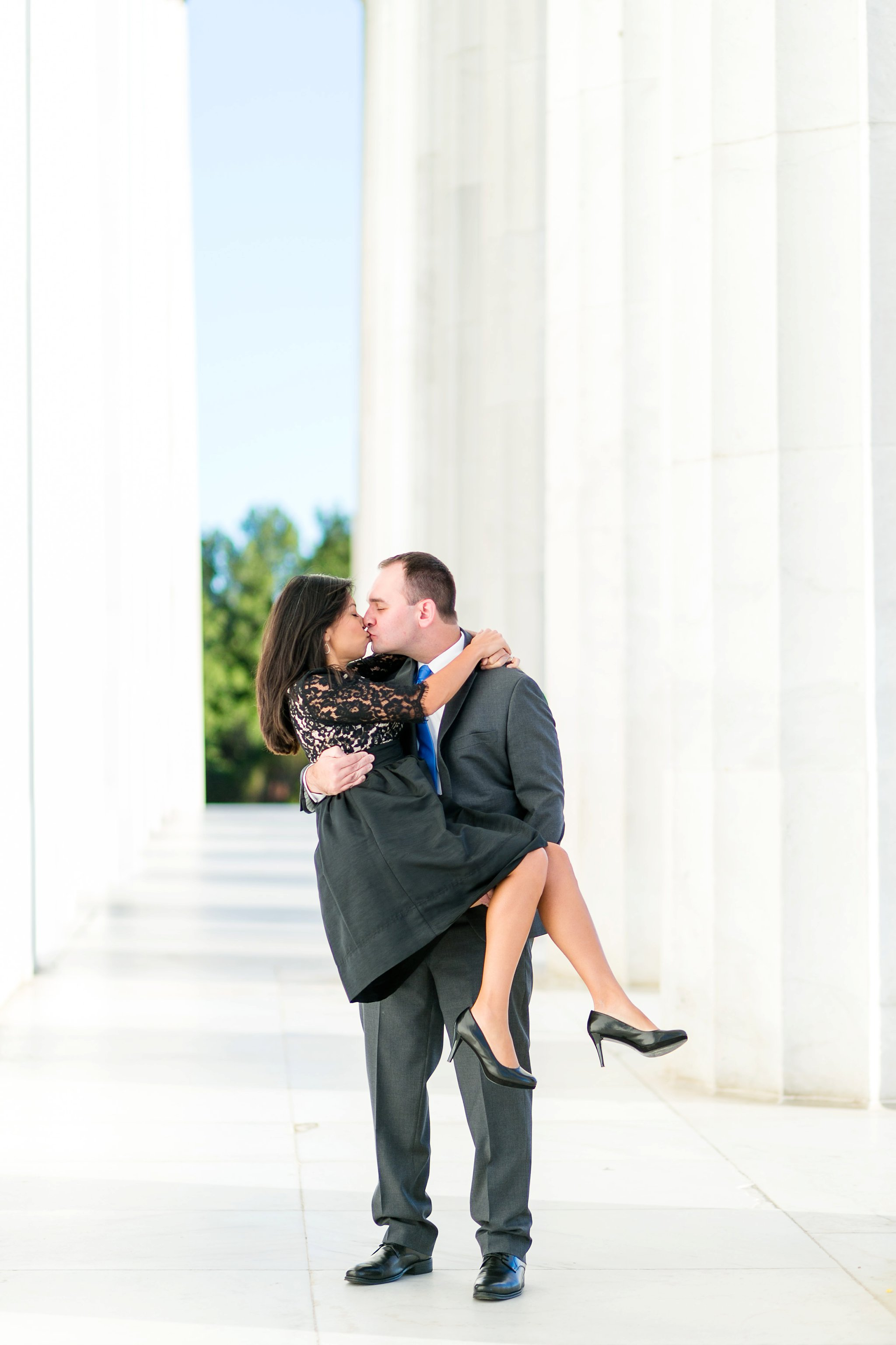 Washington DC Anniversary Photographer Lincoln Memorial Sunrise Shoot Angela & Dan-62.jpg