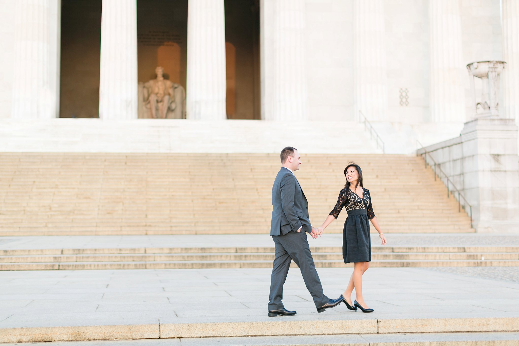 Washington DC Anniversary Photographer Lincoln Memorial Sunrise Shoot Angela & Dan-9.jpg
