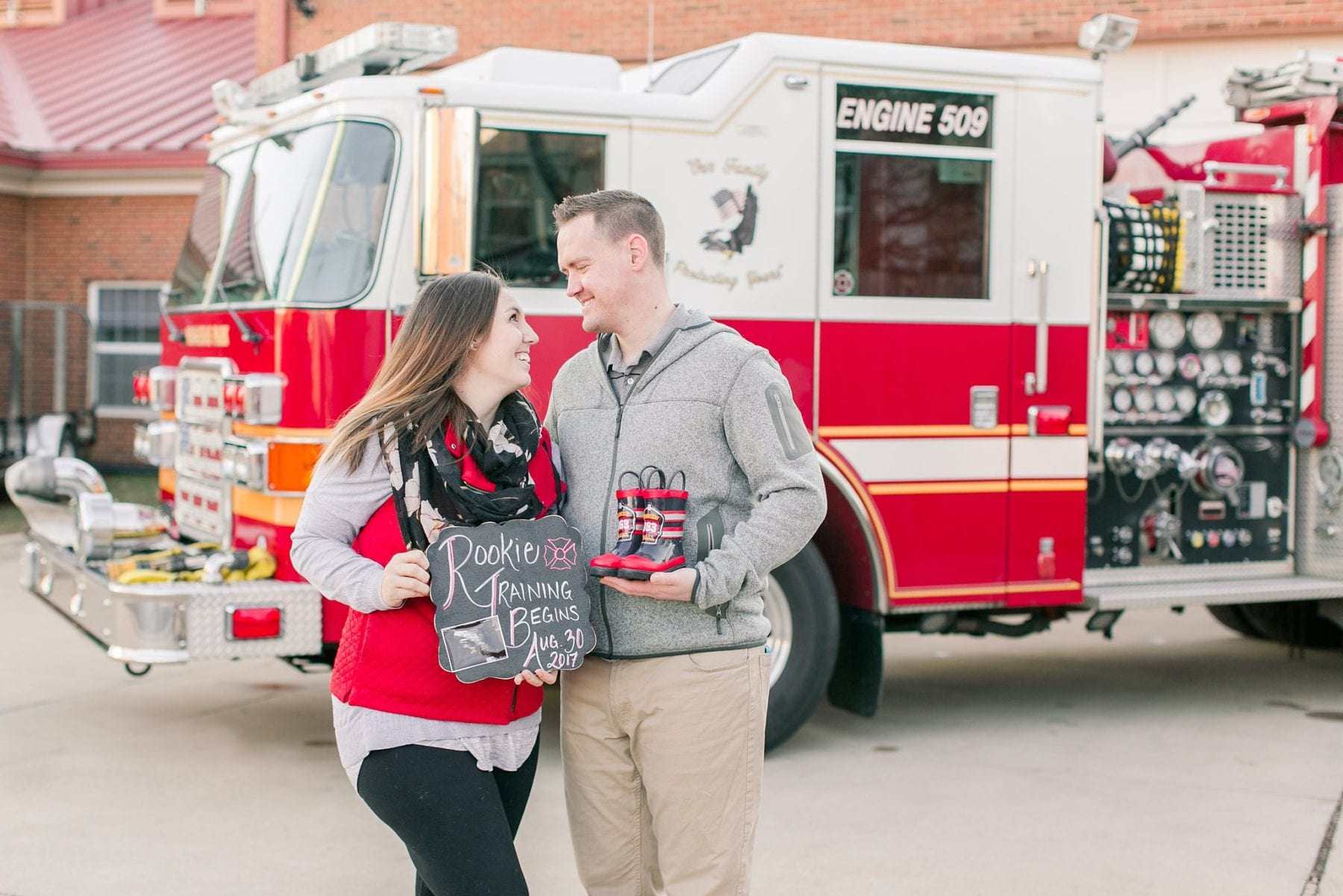 Firefighter Baby Announcement Virginia Photographer Megan Kelsey Photography Jeromy & Becky-80.jpg