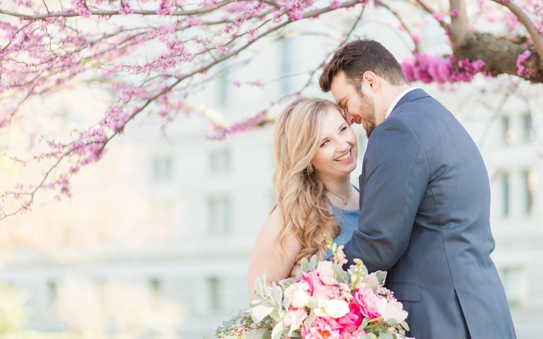Romantic Styled Capitol Hill Engagement Session   Kelly & Zach