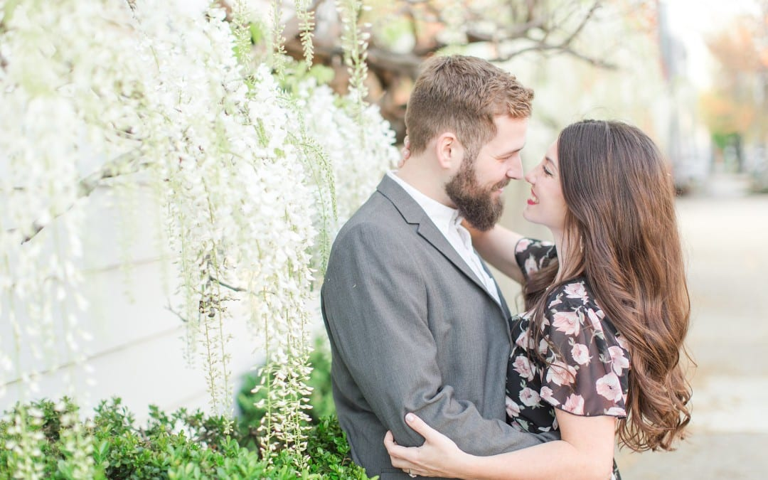 Historic Old Town Alexandria Engagement Session | Anna & David