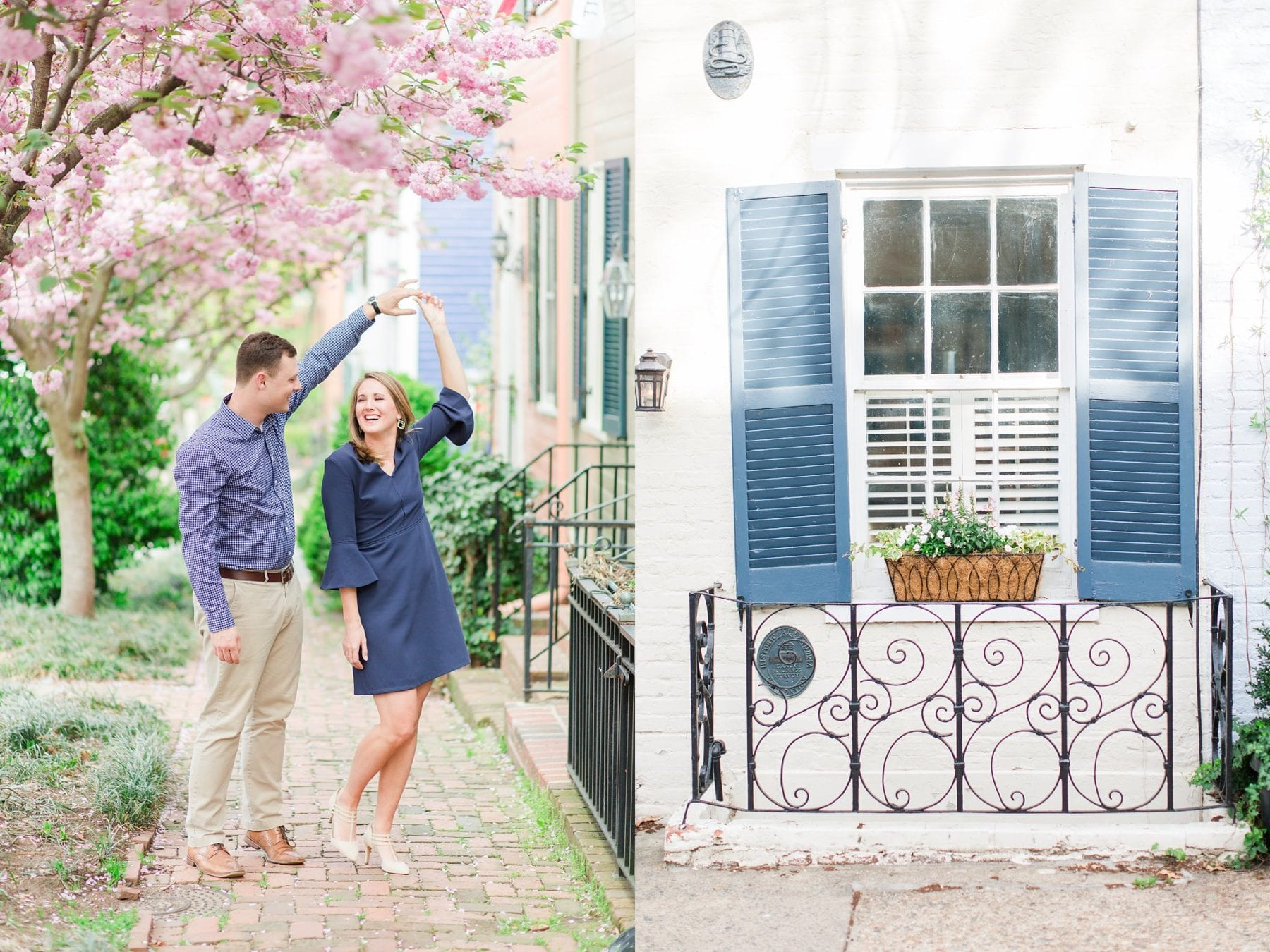 Springtime Old Town Alexandria Engagement Session Matt & Maxie Megan Kelsey Photography-54.jpg
