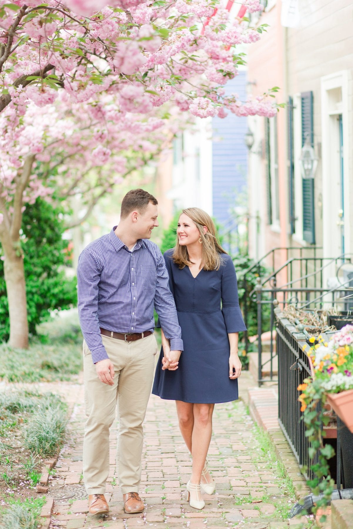 Springtime Old Town Alexandria Engagement Session Matt & Maxie Megan Kelsey Photography-57.jpg