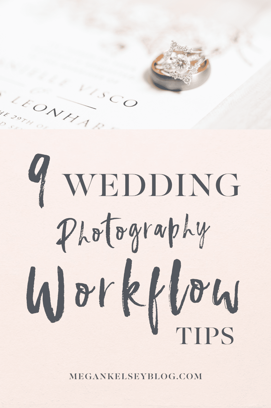 Wedding Photography Workflow Tips