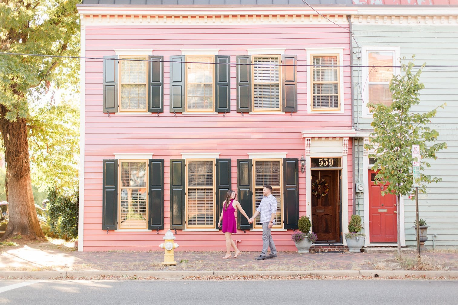 Fall Old Town Alexandria Engagement Photos Megan Kelsey Photography Virginia Wed-0004.jpg