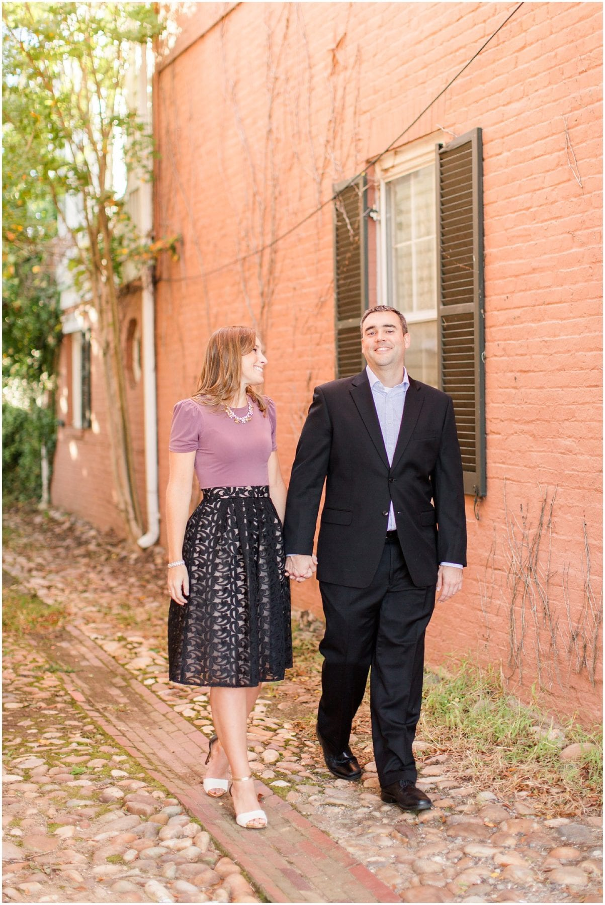 Classic Old Town Alexandria Engagement Session-129.jpg