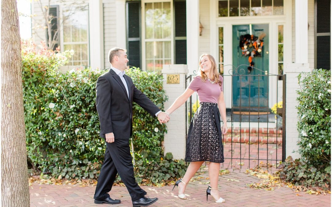 Classic Old Town Alexandria Engagement Session | Becca & Mike