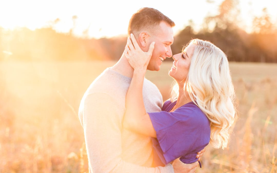 Romantic Manassas Battlefield Engagement Photos | Christine & Mason