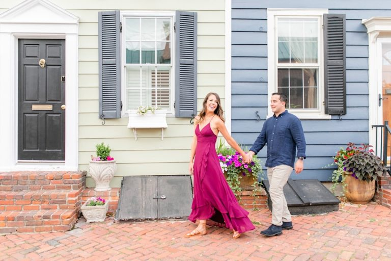 Summertime Old Town Alexandria Engagement Photos